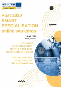 Vabilo na on-line delavnico »Post 2020 SMART SPECIALIZATION on-line workshop«